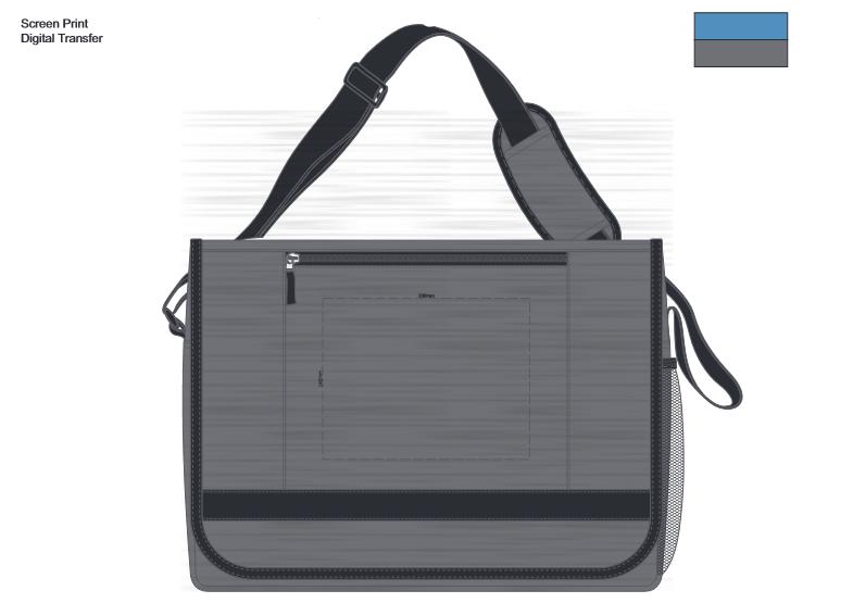 Academy Messenger Bag Branding Template