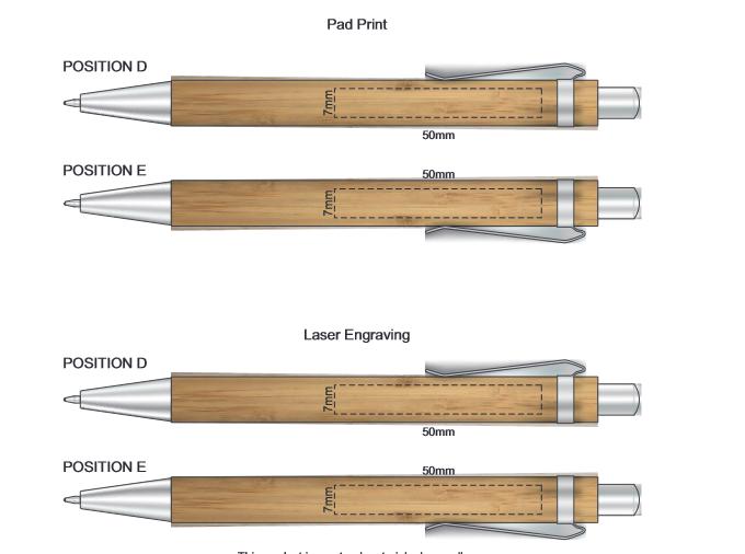 Ancona Bamboo Pen branding template