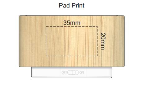 Bamboo Bluetooth Speaker branding template