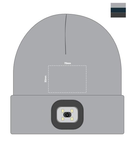 Headlamp Beanie Branding Template