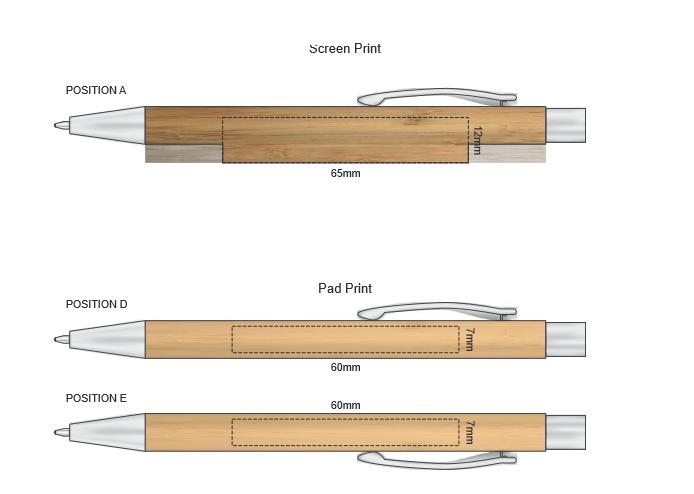 Lancer Bamboo Pen branding template