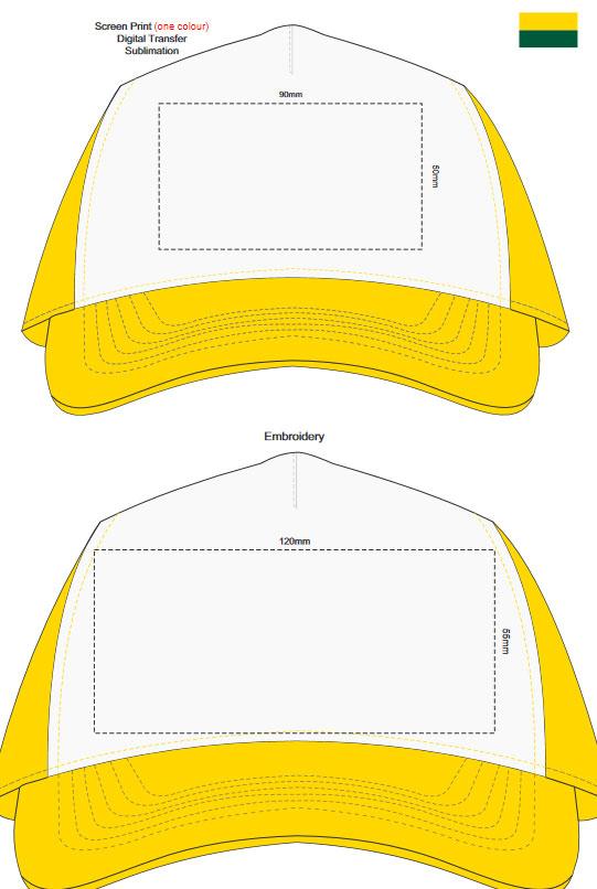 Oregon Cap White Front branding template 1