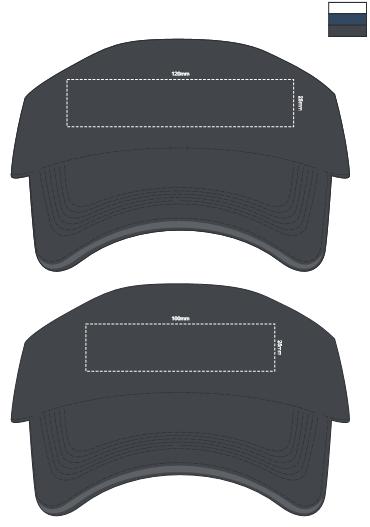 Orlando Sun Visor branding template