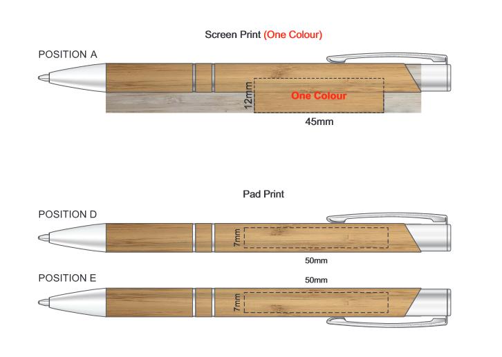 Panama Bamboo Pen branding template