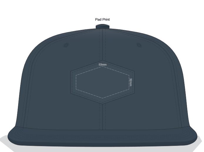 Regal Flat Peak Cap with Patch branding template