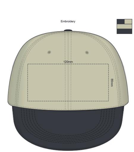 Renegade Acrylic Cap branding template