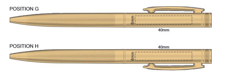 cambridge Ball Pen Branding Template