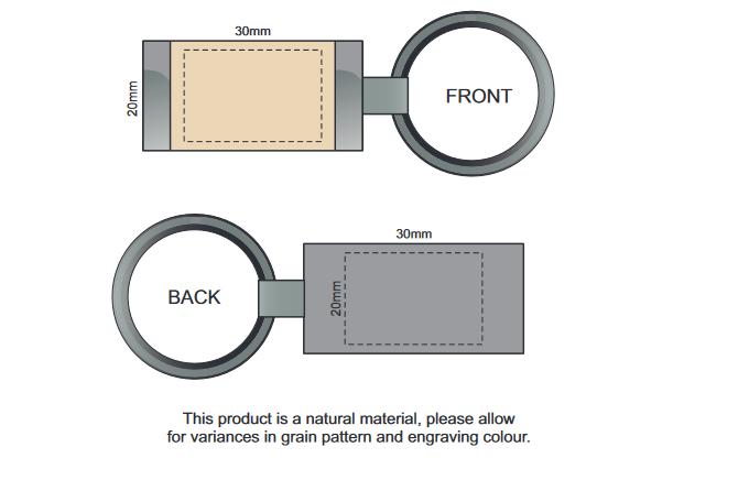 Albion Key Ring branding template