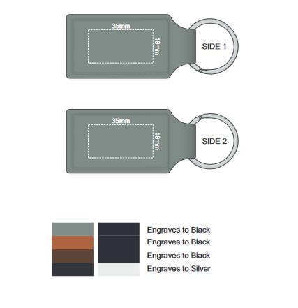 Ashton Key Ring branding template