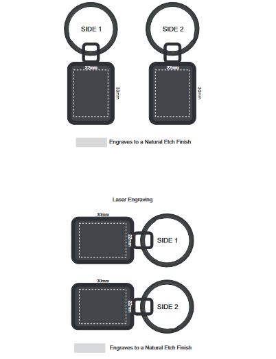 Astina Key Ring branding template