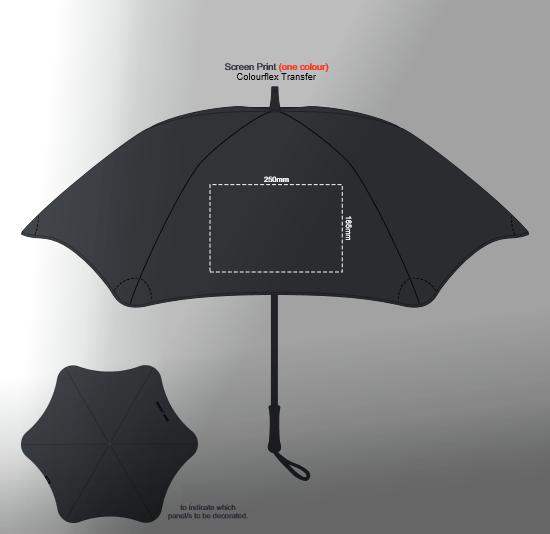 BLUNT Coupe Umbrella branding template