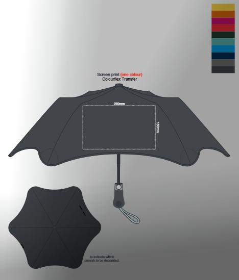 BLUNT Metro Umbrella branding template
