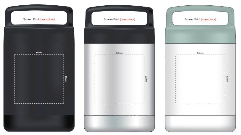 Caldera Vacuum Flask branding template 1