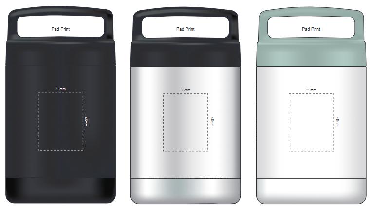 Caldera Vacuum Flask branding template 2
