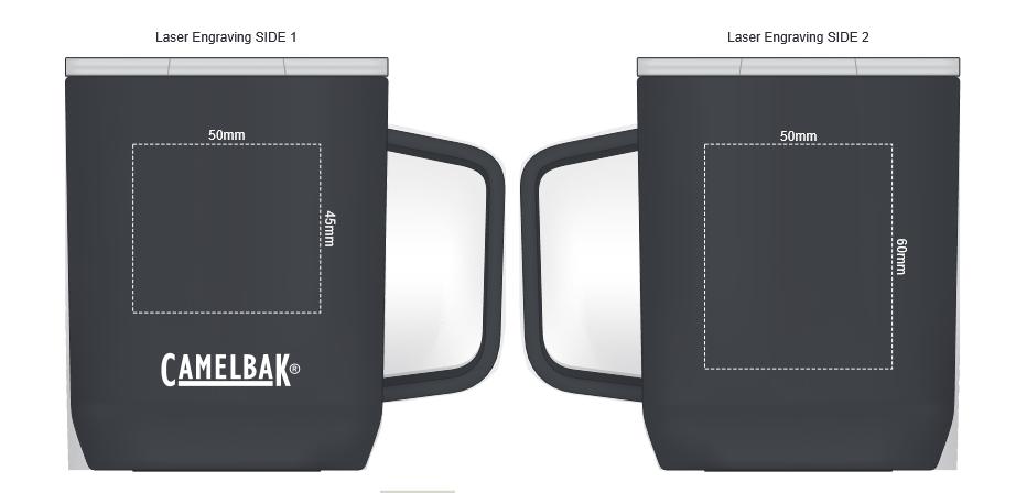 CamelBak Horizon Vacuum Camp Mug branding template 1