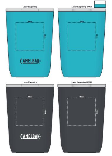 CamelBak Horizon Vacuum Tumbler 350ml branding template 1