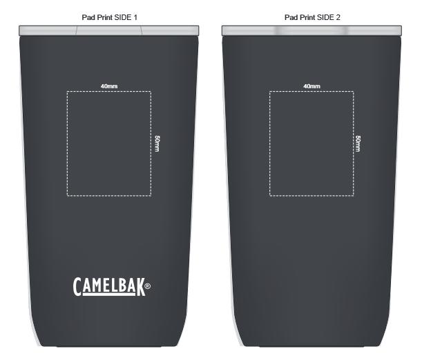 CamelBak Horizon Vacuum Tumbler 500ml branding template 1