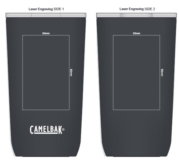 CamelBak Horizon Vacuum Tumbler 500ml branding template 4