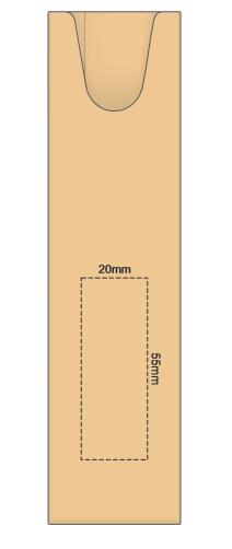 Cardboard Pen Sleeve branding template