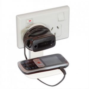 Cell Phone Charger Stand white