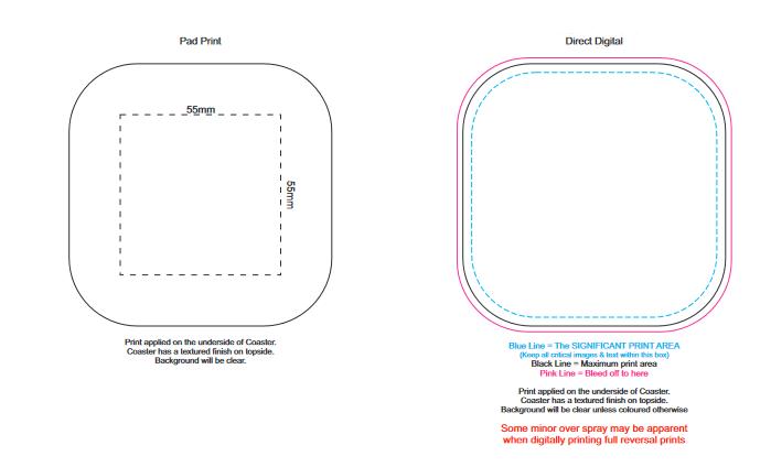 Clarion Coaster branding template