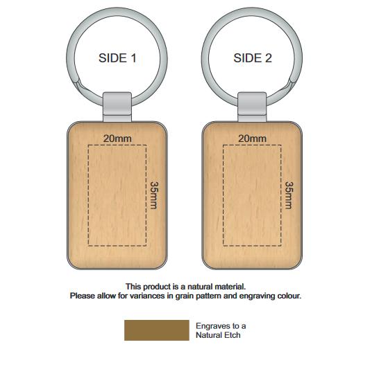 Echo Key Ring Rectangle branding template