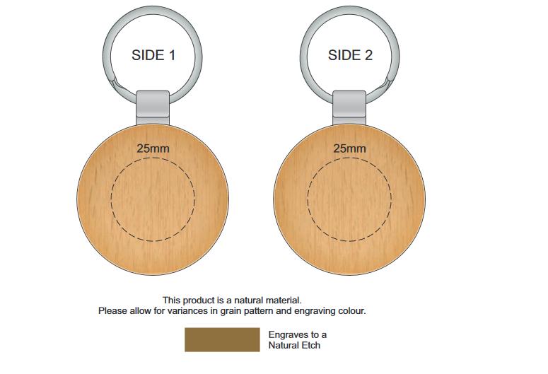 Echo Key Ring Round branding template