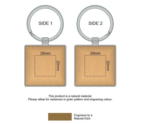 Echo Key Ring Square branding template