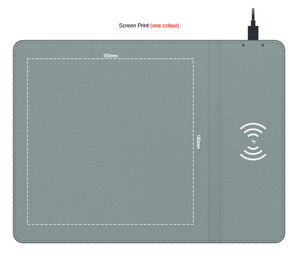 Greystone Wireless Charging Mouse Mat branding template