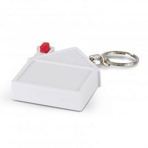 House Tape Measure Key Ring white