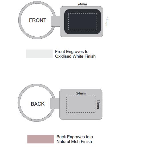 Laser Etch Metal Key Ring branding tempplate