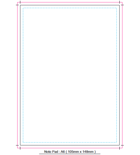 Note Pad A6 branding template