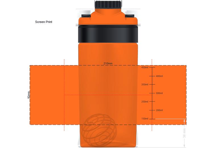 Olympus Sports Shaker branding template 1