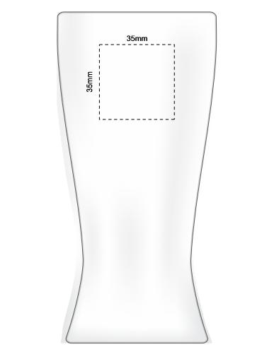 Polo Tumbler PET 410ml branding template