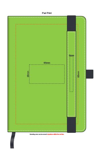 Premier Notebook with Pen Holder branding template 1