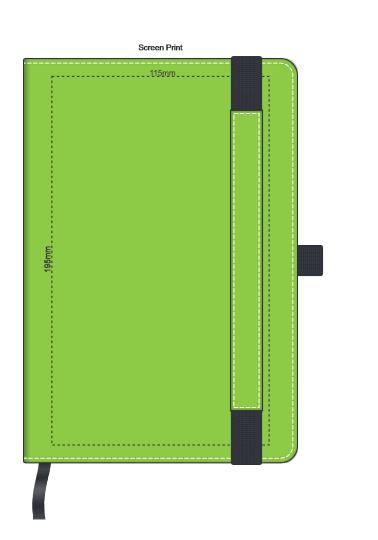 Premier Notebook with Pen Holder branding template 2