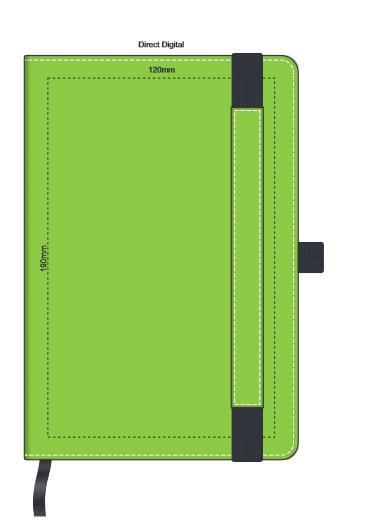 Premier Notebook with Pen Holder branding template 3