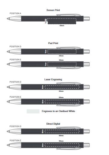 Prescott Notebook and Pen Gift Set branding template 1