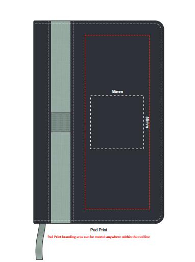 Prescott Notebook and Pen Gift Set branding template 3