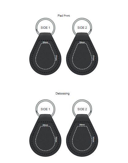 Prince Leather Key Ring Round branding template