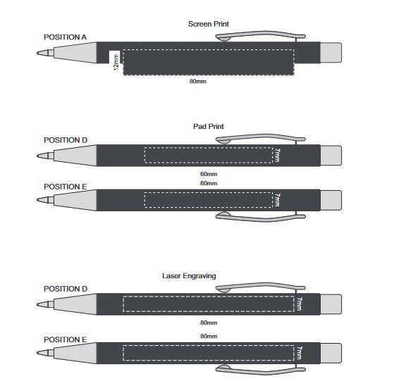 Rado Notebook with Pen branding template 1