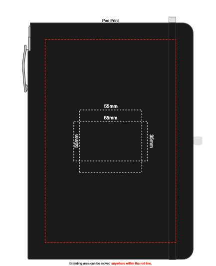 Rado Notebook with Pen branding template 2