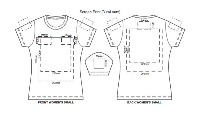 SOLS Imperial Womens T Shirt branding template 1 1