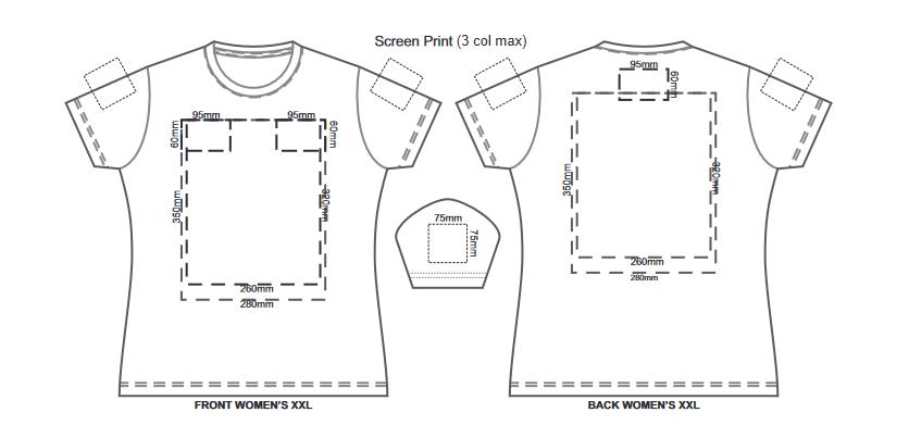 SOLS Imperial Womens T Shirt branding template 2 1