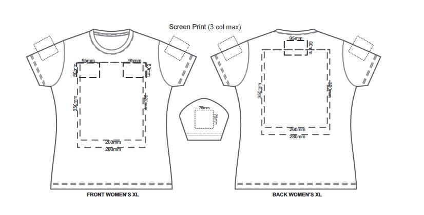 SOLS Imperial Womens T Shirt branding template 3 1