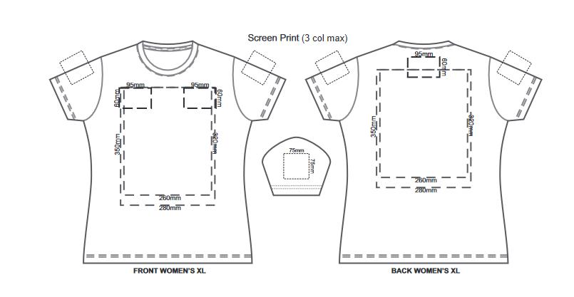 SOLS Imperial Womens T Shirt branding template 4 1