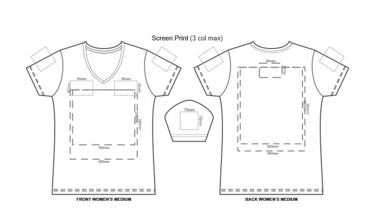 SOLS Imperial Womens V Neck T Shirt branding template 1 1