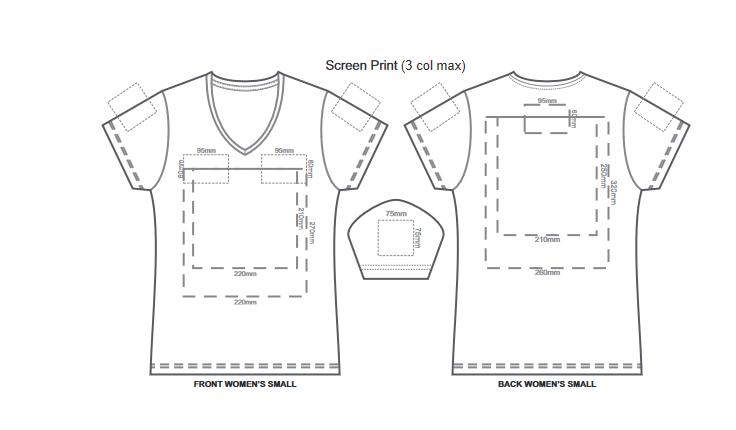 SOLS Imperial Womens V Neck T Shirt branding template 2 1