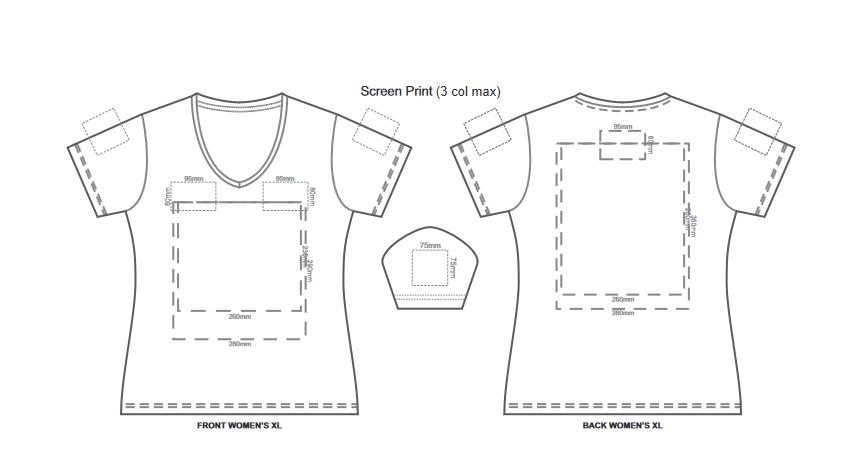 SOLS Imperial Womens V Neck T Shirt branding template 3 1