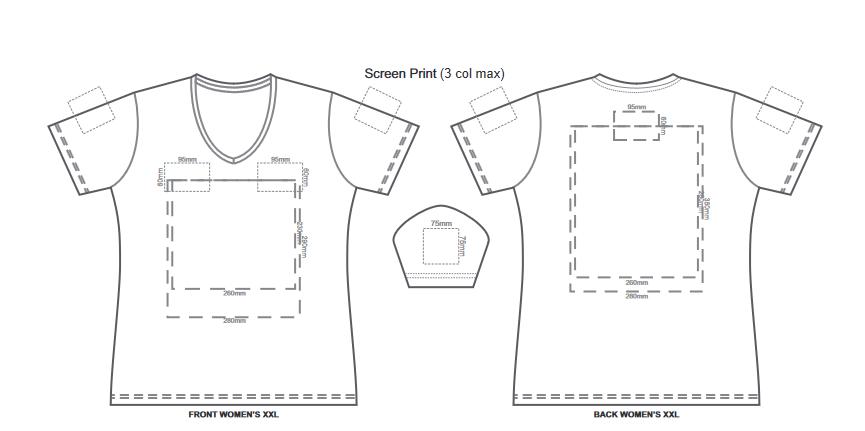SOLS Imperial Womens V Neck T Shirt branding template 4 1